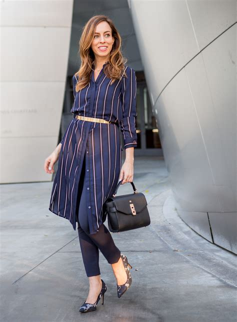 Day to Night in a Shirtdress and Skinny Pants | 2017 Fashion