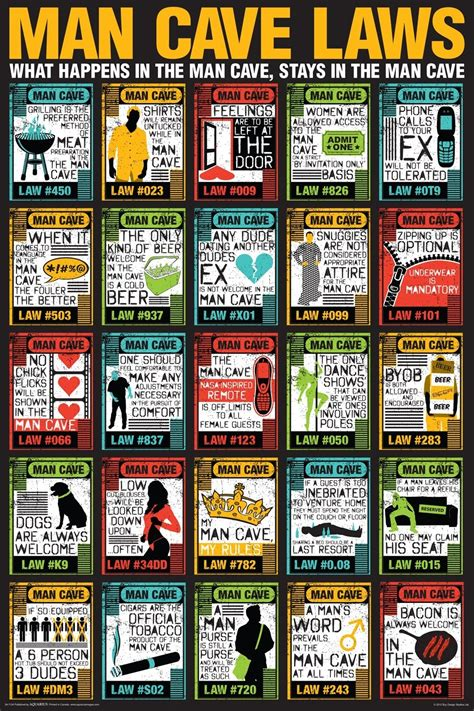 Man Cave Laws Poster - Gift Search