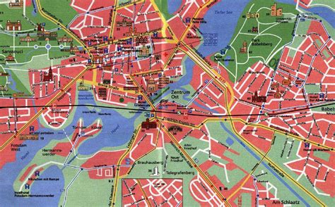 Large Potsdam Maps for Free Download and Print   High