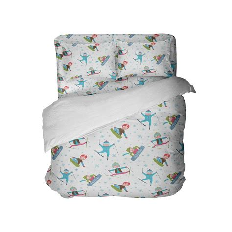 """Kids Snowboard and Ski Comforter Set """"Sweet Ride"""" from"""