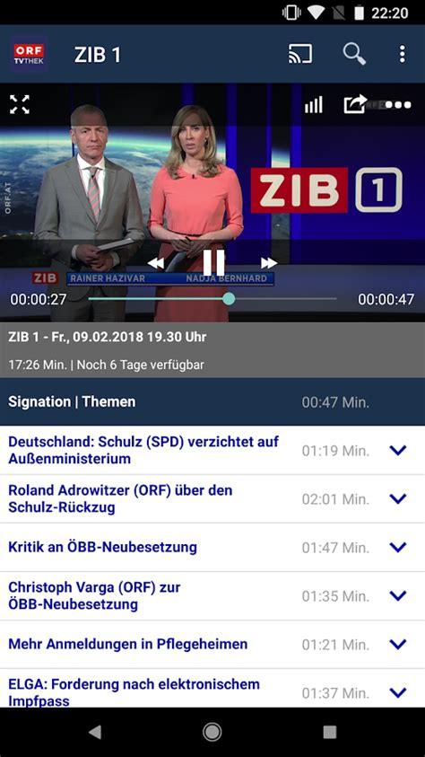 ORF TVthek: Video on demand – Android-Apps auf Google Play