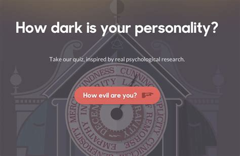 This Dark Triad Personality Test Will Tell You What Your