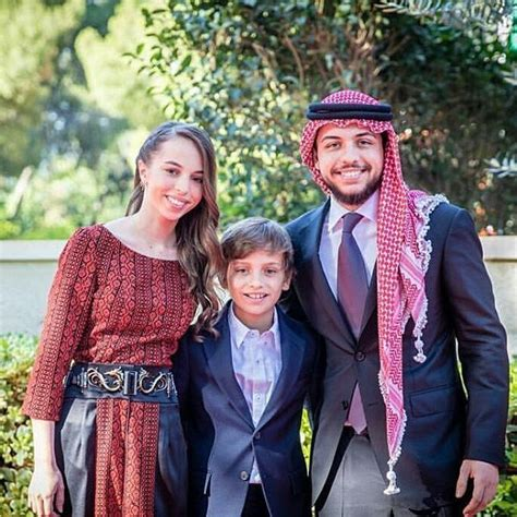 Crown Prince Hussein of Jordan with her younger siblings