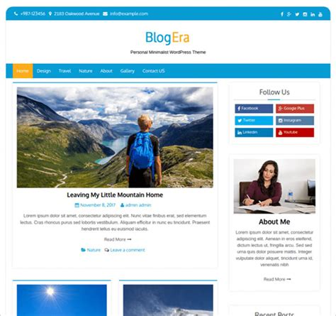 30 Best Free Blog WordPress Themes 2018 For New Bloggers