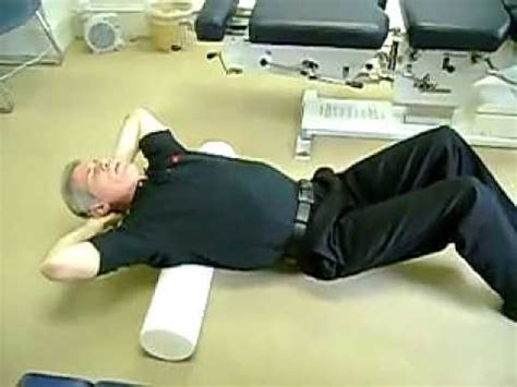 Foam Roller Stretching of the Spine - YouTube