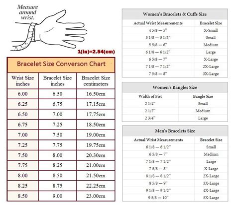 Ring Sizing Guide | Bracelet size chart, Cartier love