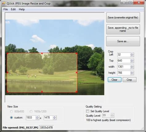 Quick JPEG Resize and Crop - Free download and software