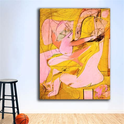 willem de kooning pink angels 1945 Canvas Painting For