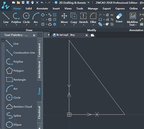 How to get AutoCAD to draw a triangle on its own by taking