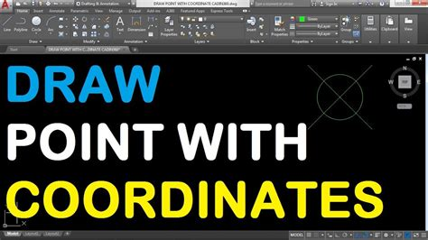 How to Draw a Point with Coordinates in AutoCAD 2018 - YouTube