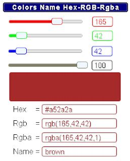 YmaByts: Color Chooser - Calculator RGB / Rgba to Hex, Gadget