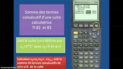 somme suite calculatrice Ti 82 - YouTube