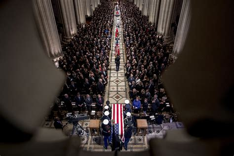 Funeral of former US President George Bush takes place at