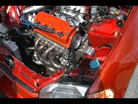 d16z6 all motor p29 build Before Dyno - YouTube