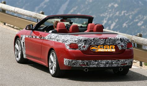 BMW 4 Series Convertible spied with its roof down - photos