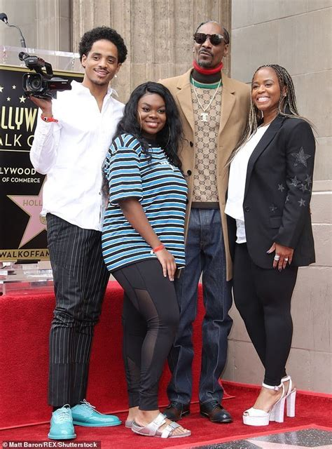 Snoop Dogg Kisses His Wife of 21 years As He Gets a Star