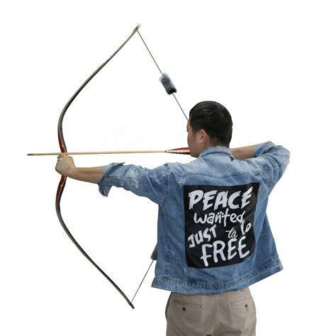60'' Traditional Archery Recurve bow and Arrows Wood
