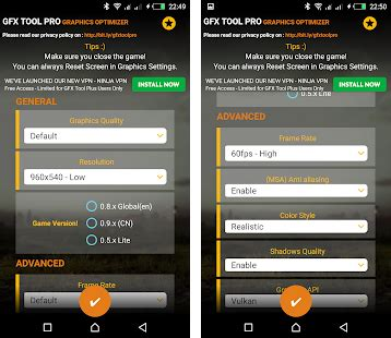 GFX Tool Pro for PU Battlegounds - 60FPS Apk Download for